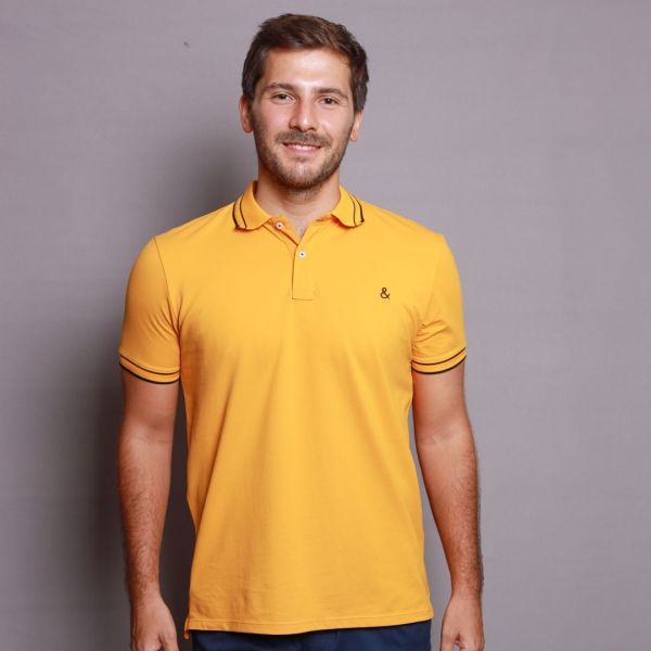 Bumblebee Yellow Stretch Polo T-Shirt